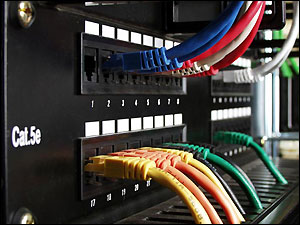 Patch Panel con sus Patch Cords