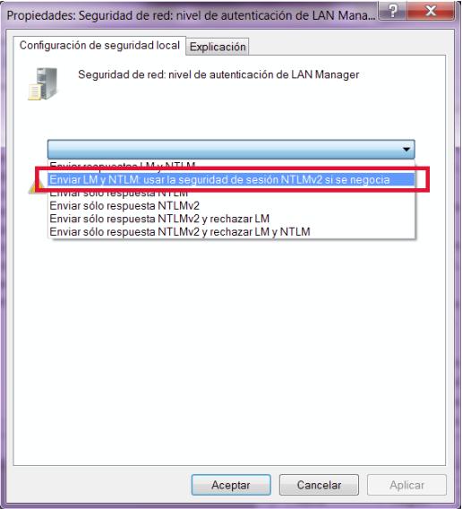 Nivel De Autenticacin De Lan Manager. wong solo developer