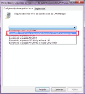 Nivel de autenticación de LAN Manager