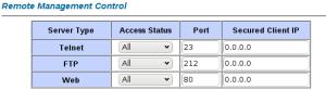 FTP gestión router
