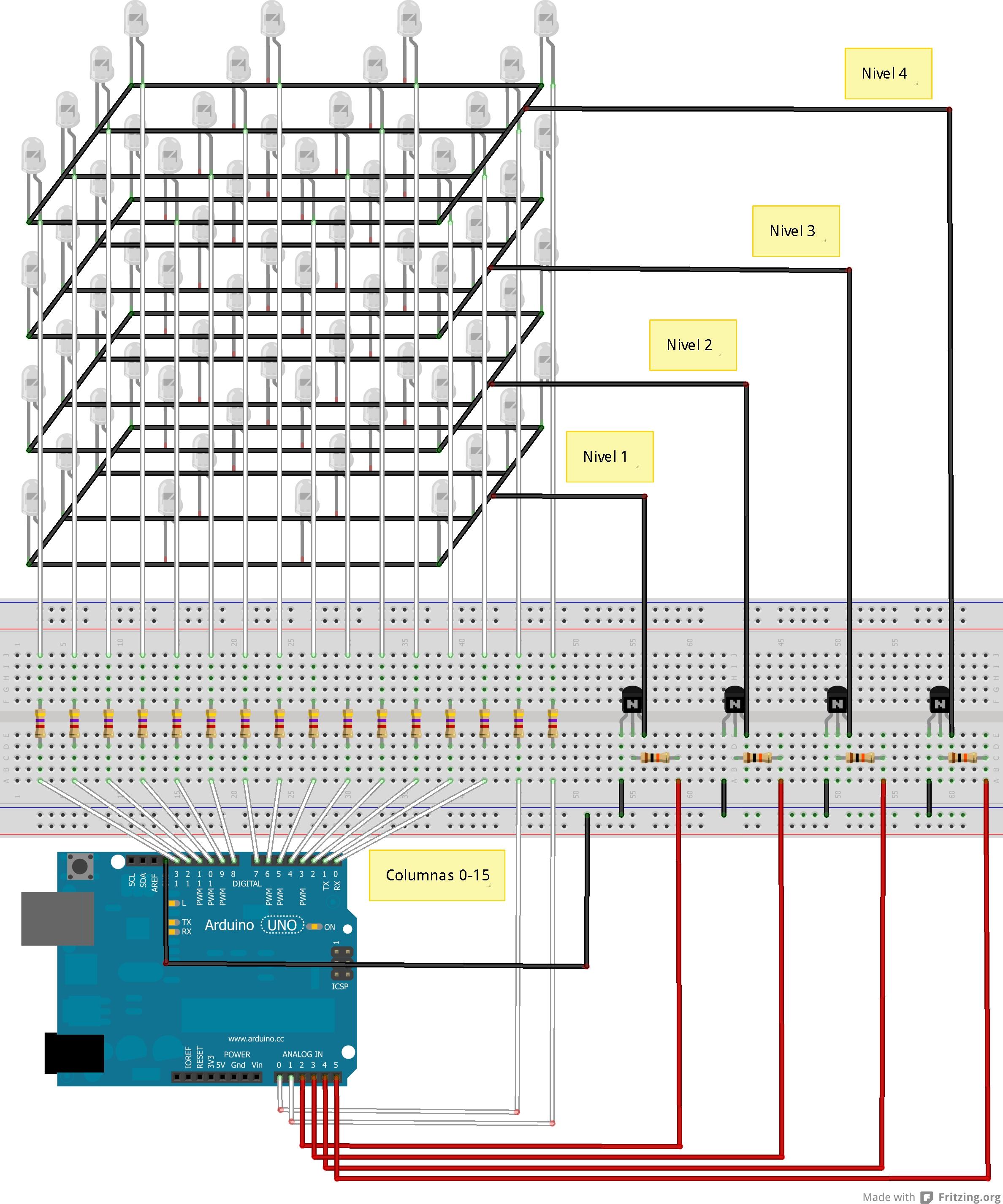 ICStation 4X4X4 Light Cube Kit for Arduino UNO - Arduino
